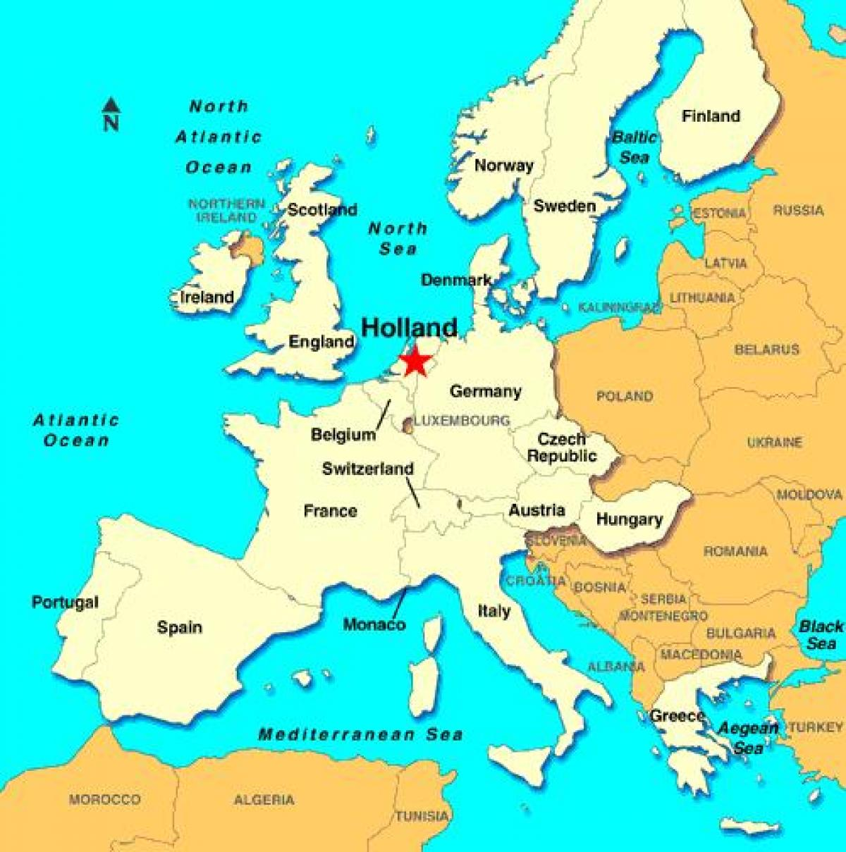 mapa europa holanda Holanda mapa europa   Mapa europan Holanda (Mendebaldeko Europa  mapa europa holanda